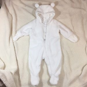 Pile Overall W/Ears and Cotton Tail Size 6/9 Mo